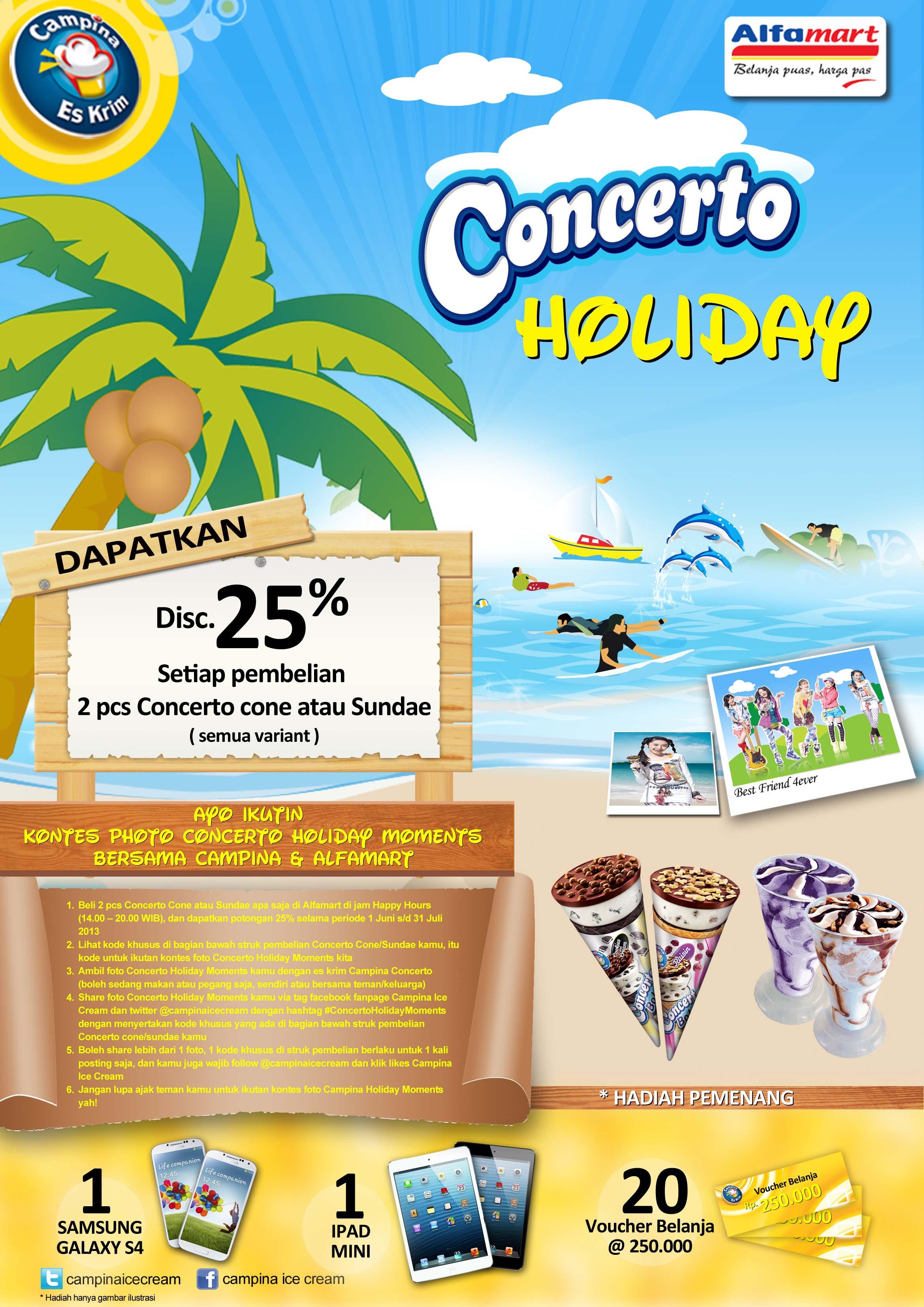 Campina Alfamart Concerto Holiday Moments Promo Campina Ice Cream
