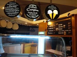 Campina Parlour menu