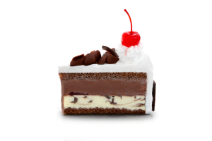 Blackforest Ice Cream Cake Slice