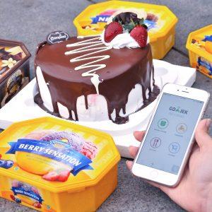 Pesan Campina Ice Cream di aplikasi GOFOOD