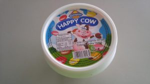 Happy Cow ice cream (tampak atas)