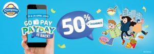 Promo Cashback 50 persen